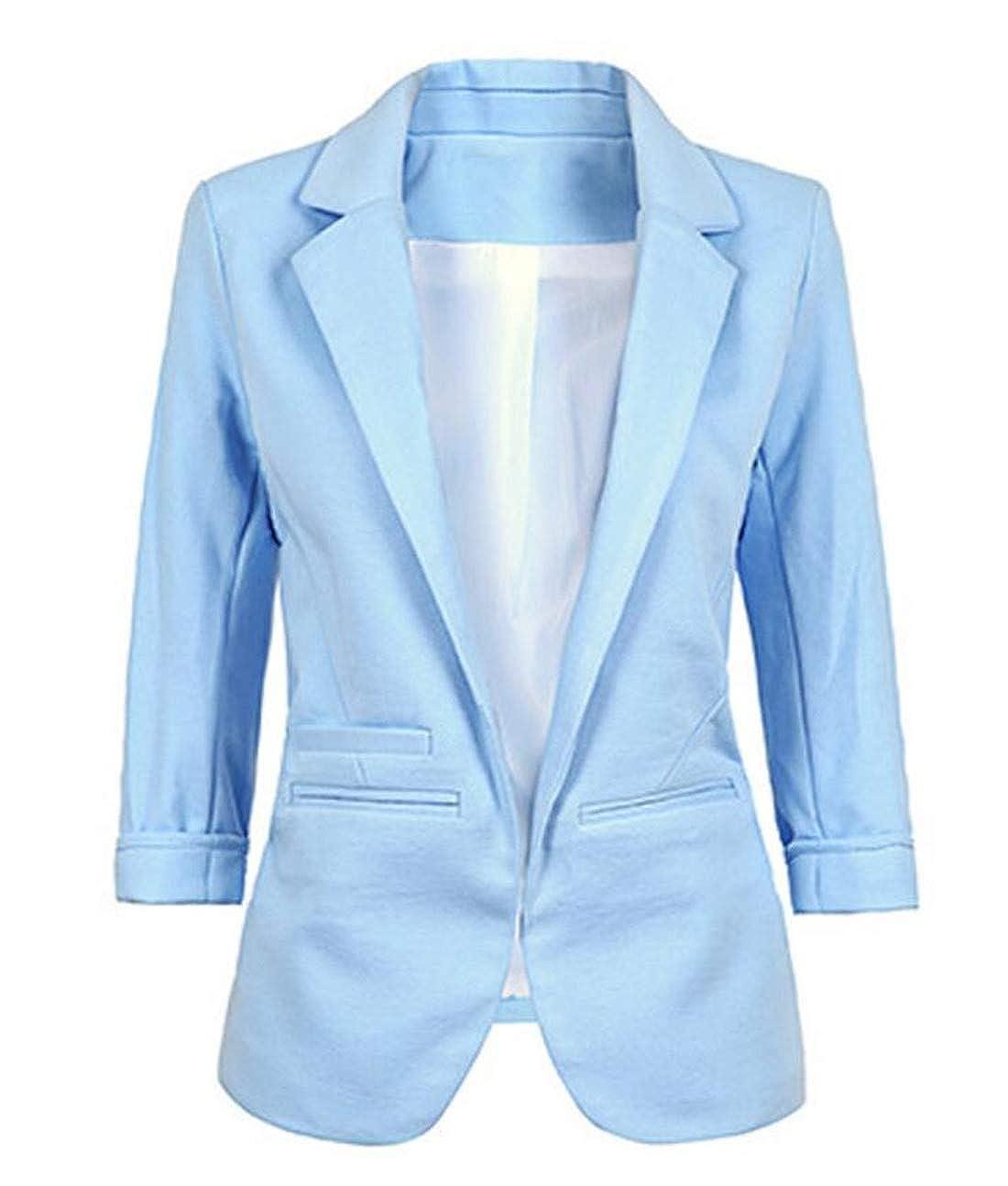 MU2M Women - Chaqueta de Traje - para Mujer Azul Azul Claro ...