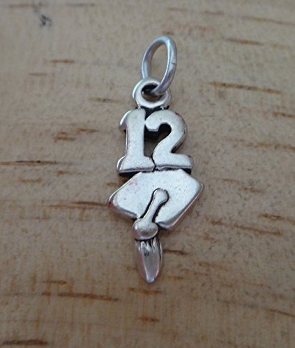 2012 Graduation Charm - Sterling Silver 19x8mm 12 or 2012 with Graduation Cap College High School Charm! DIY Crafting by Wholesale Charms