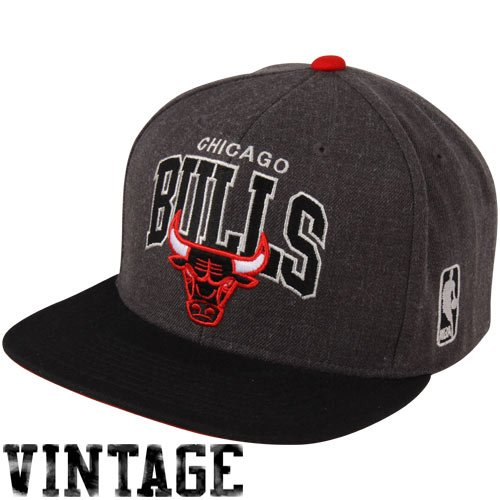 Arch Logo Hat - Test Mitchell & Ness The Chicago Bulls Arch Logo G2 Snapback Hat,One Size,Gray