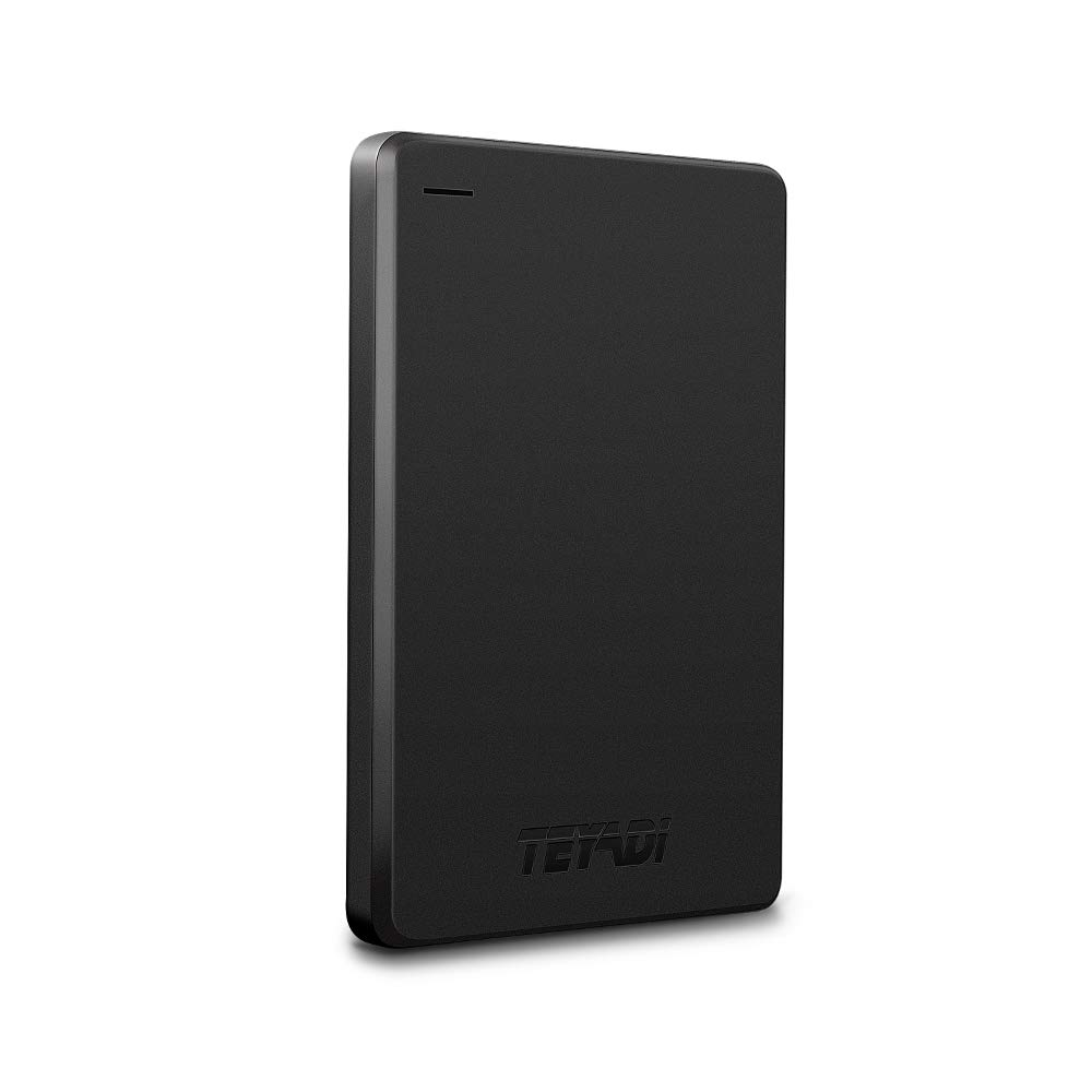 2.5'' 1TB Ultra Slim Portable External Hard Drive 9mm USB3.0 HDD Storage Compatible for PC, Desktop, Laptop, Xbox One, PS4