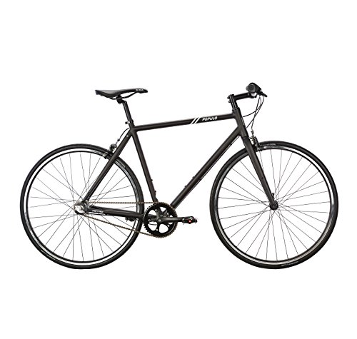 Populo Bikes Metro 3-Speed Urban Commuter Bike, Lightweight Aluminum 700C City Bicycle - S, Black, 49cm/Small