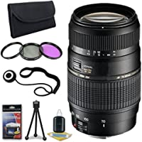 Tamron AF 70-300mm f/4.0-5.6 Di LD Macro Zoom Lens with Built In Motor for Pentax Digital SLR Cameras + 62mm 3 Piece Filter Kit + Lens Cap Keeper + Deluxe Starter Kit DavisMax Bundle