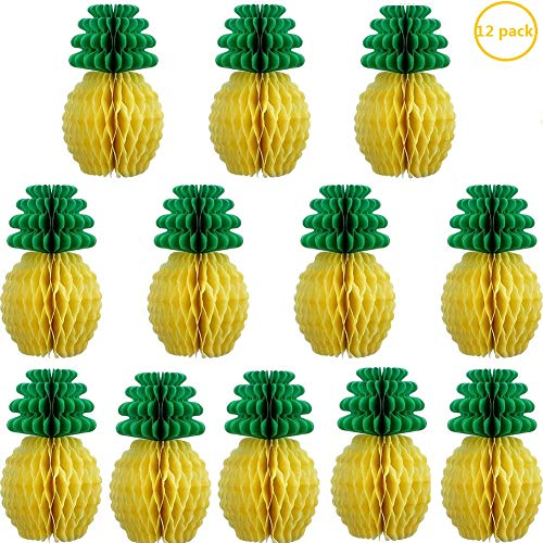 12 Pack Tissue Pineapples for Party Supplies Hanging Centerpieces Tissue Paper Pineapple Table Decoration Hawaiian Theme Wedding Home Decor from Luckfind