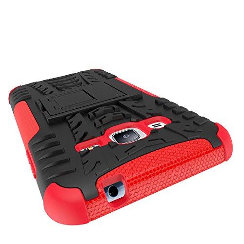 XHD-Casos de teléfonos móviles TPU desmontable [Kickstand] 2 en 1 resistente a prueba de golpes cubierta de la caja resistente para Samsung Galaxy J3 / Galaxy J3 2016 ( Color : Black ) Black