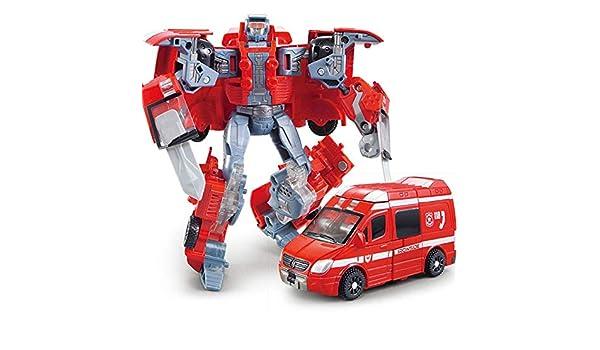LOSITA Ambulancia Transformador Boy Anime Robot Fuego Rescate Ambulancia Camión Modelo Anime Acción Figuras Classic Juguetes Niños: Amazon.es: Hogar