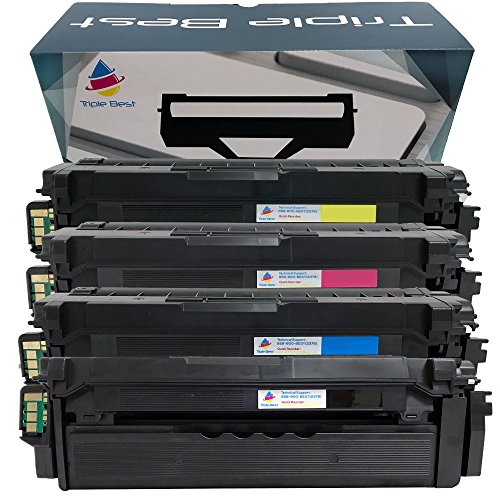 MyTripleBest® Set of 4 Compatible Toner Cartridge for Samsung CLT-K506L CLT-C506L CLT-M506L CLT-Y506L Toner Cartridge used with CLP-680ND CLX-6260FD CLX-6260FW Printers