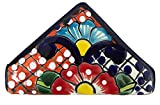 Casa Fiesta Designs Talavera Pottery Napkin Holder - Authentic Hand Painted Mexican Pottery - Multicolor
