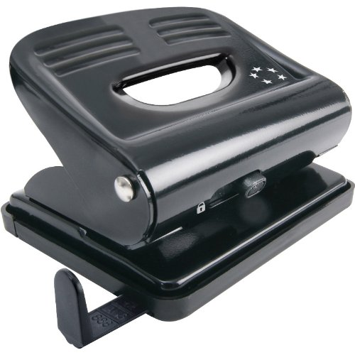 5 Star Punch 2-Hole Plastic Base Metal Handle Capacity 18x 80gsm Black Acco UK Ltd 918788
