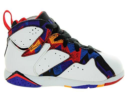 Nike Jordan 7 Retro Bt, Zapatos de Primeros Pasos para Bebés Blanco / Rojo / Negro (White / Unvrsty Rd-Blk-Brght Cnc)