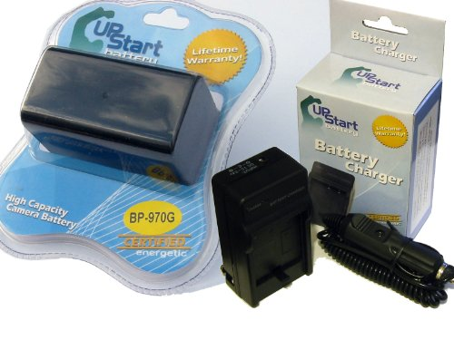 Bp 970g Camcorder - Canon BP-970G Battery and Charger Replacement Kit for Canon Camcorders (7500mAh, 7.4V, Lithium-Ion)