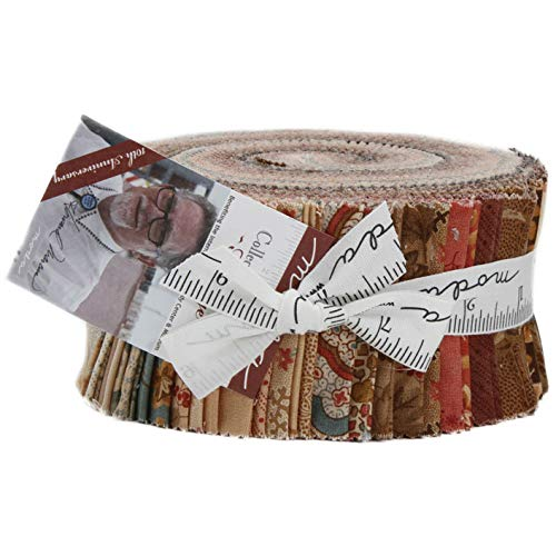 19th Century Fabrics - Collection for a Cause Heritage 10th Anniversary Jelly Roll 40 2.5-inch Strips by Howard Marcus for Moda Fabrics 46000JR