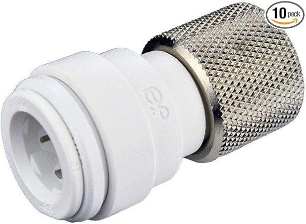 15mm push fit to 6mm shut off valve American réfrigérateur tuyau connecteur /& isolater