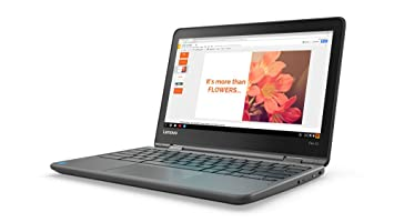 Lenovo Flex 11 Chromebook 11.6-Inch HD IPS Touch Panel (1366x768) MTK 8173c 4GB 32GB Chrome - ZA270025US