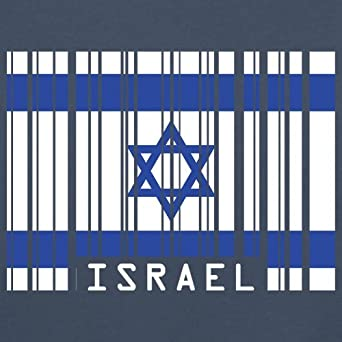 Drapeau Code Barre Isra/ël//Israel Unisex Pull 12 Couleur