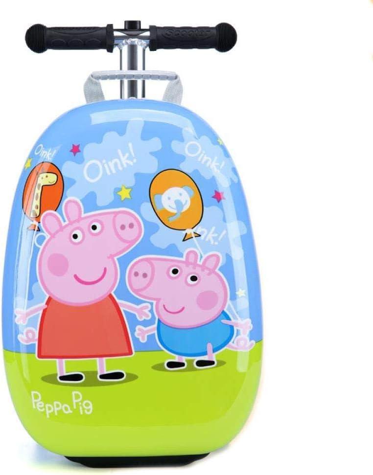GEZHU Niño Vespa Maleta pequeña Carry Carro de Equipaje Bolsa de Kid Maleta con Ruedas Equipaje del balanceo, Página Juguetes Divertidos para niños.