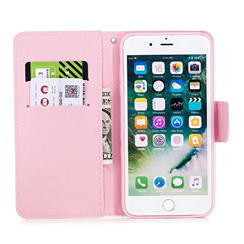 Smartphone Case Wi card Shell Premium Pu Pattern And Colorful Flip Slots shock Katech Painting Protective 7 Case magnetic Purse Closure 7 Wallet Plus Iphone Leather Cover 8 Absorption 0wvxg1