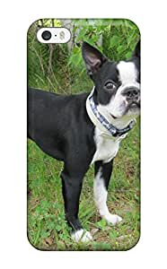 Valerie Lyn Miller Case Cover For Iphone 5/5s - Retailer Packaging Boston Terrier Dog Protective Case