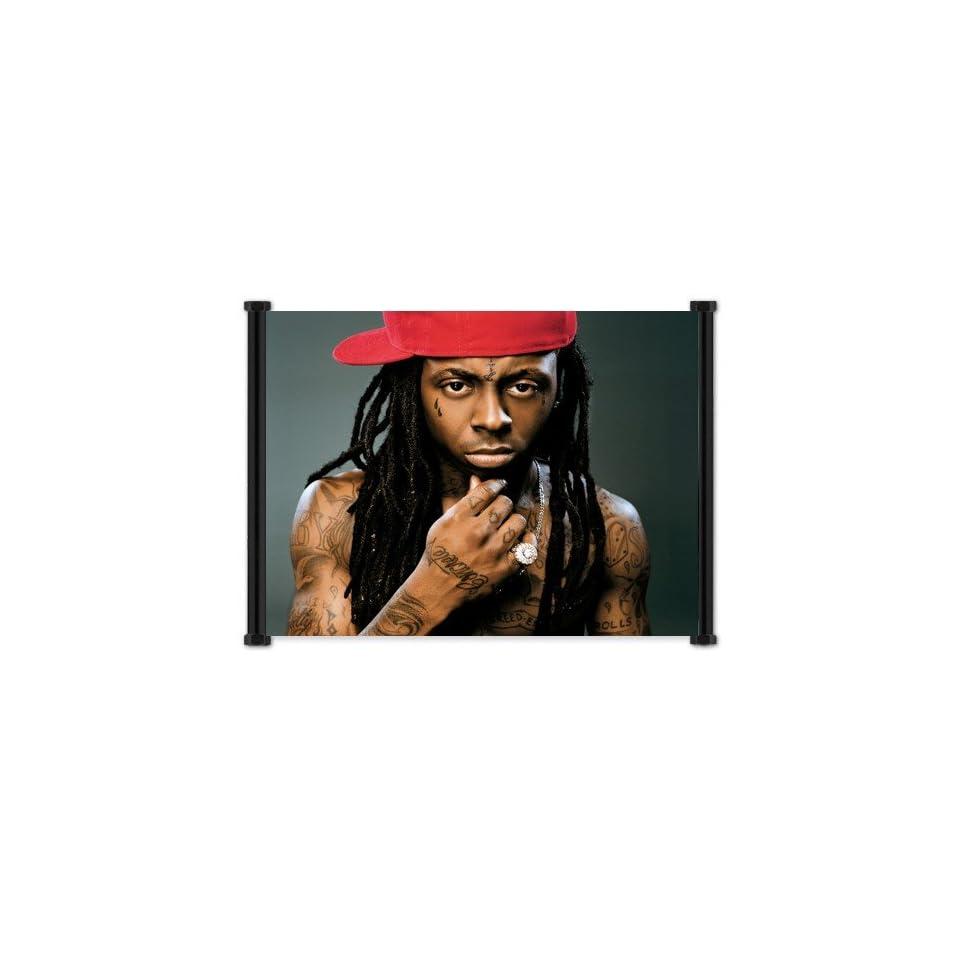 Lil Wayne Rapper Fabric Wall Scroll Poster (21x16) Inches