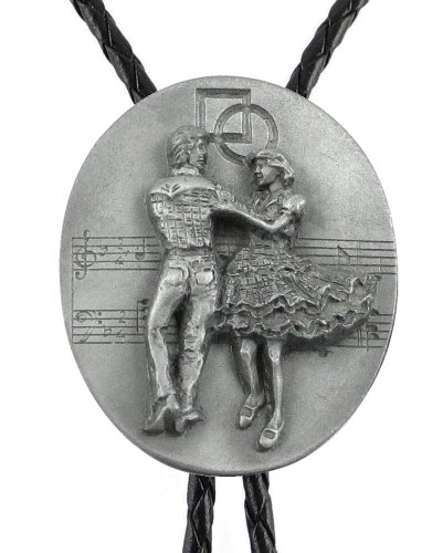 Bolo Tie - Square Dancing - Sculpted Pewter Bolo - Unpainted
