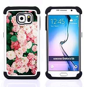 - rose bush pink white garden wild/ H??brido 3in1 Deluxe Impreso duro Soft Alto Impacto caja de la armadura Defender - SHIMIN CAO - For Samsung Galaxy S6 G9200