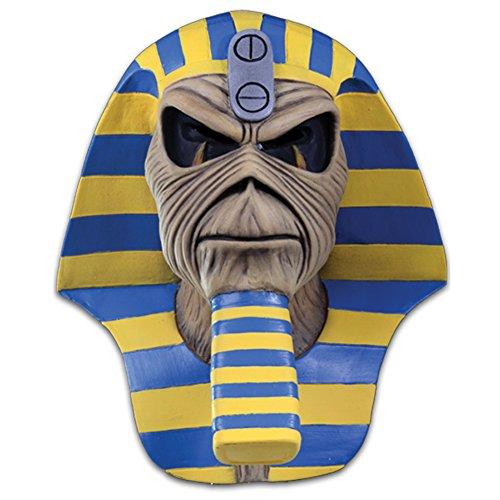 Loftus International Iron Maiden Powerslave Cover Full Head Mask Beige Blue Yellow One-Size Novelty (Iron Maiden Halloween)