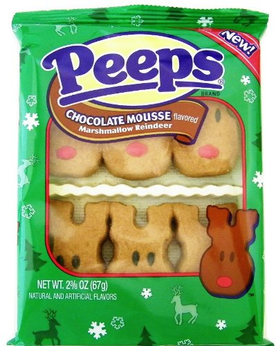 - Chocolate Mousse Marshmallow Reindeer Peeps 6ct.