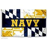 US Navy Midshipmen Maryland State Flag