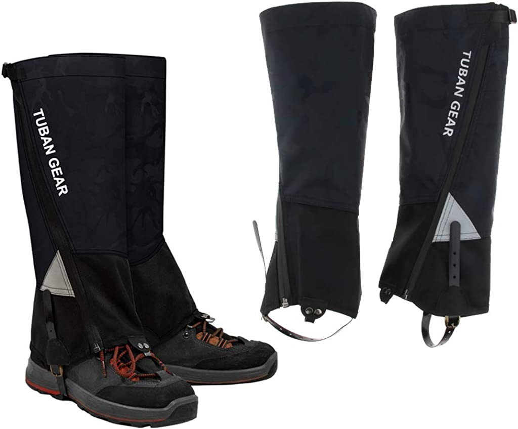 Outdoor Sports Boots Covers Guard Gear T TOOYFUL Knee High Gaiters Lightweight Waterproof Long Gaiters for Hiking Walking Backpacking