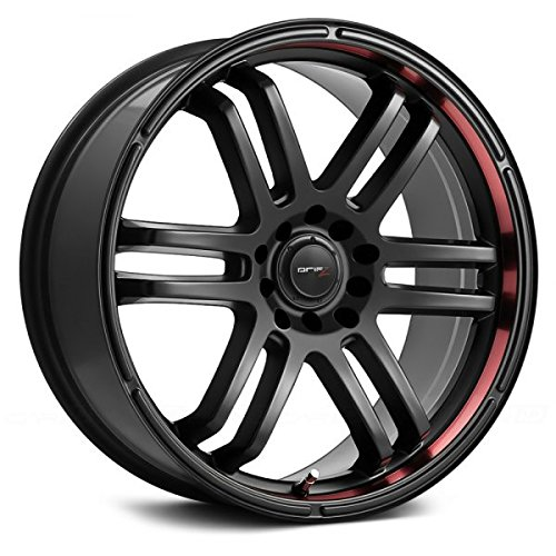 Drifz FX 17x7.5 Black Wheel / Rim 5x110 & 5x115 with a 38mm Offset and a 73.00 Hub Bore. Partnumber 207B-7754338 (Cadillac Cts 2006 Rims compare prices)