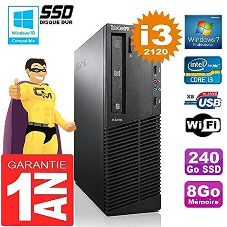 Lenovo PC M92p SFF Core I3-2120 RAM 8GB Disco 240GB SSD Grabadora ...