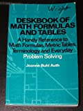 Deskbook of Math Formulas and Tables, Joanne B. Auth, 0442211066