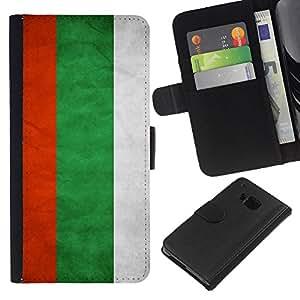 """Be-Star la tarjeta de CršŠdito Slots PU Funda de cuero Monedero caso cubierta de piel Para HTC One M7 ( Bandera nacional de la Serie-Bulgaria"""" )"""