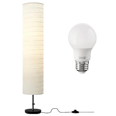 the latest 7077b decc8 Ikea Holmo 46 Inch Floor Lamp with LED Bulb