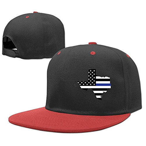 YELOFISH Kids' Hip Hop Baseball Caps BLUE Thin Line Texas Snapback Hats