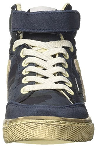 Collo Alto Blu Sneaker Navy a Blue Camu Bambino DrunknMunky Boston X4ZIX6