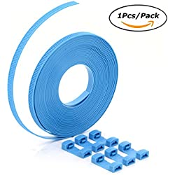 U-TIMES Releasable & Reusable Fast Bundle Nylon Cable Ties / Luggage Zip Tie Strap Set With Self-Locking Connectors Without Scissors - 26.2 Feet / 8 Meter Per Roll - 1 Pcs/Pack