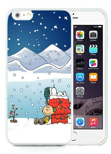 iPhone 6 Plus TPU Case,Peanuts Christmas White iPhone 6S Plus 5.5 Inches Cover Case