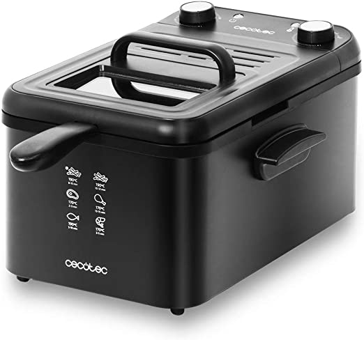 Cecotec Freidora eléctrica CleanFry Infinity 3000 Black. 3 L ...