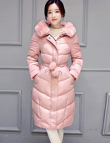 Street Coat Women's Pink Gray BLACK Solid Long YRF Hooded Padded 2XL Sleeve Black Green Beige chic apwzcq8x
