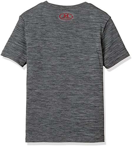Under Armour Kids Boy's Crossfade Tee (Big Kids) Stealth Gray/Red/Stealth Gray Small by Under Armour (Image #2)