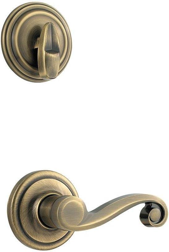 Kwikset Polish Brass 966LL LH RH Interior HandleSet Trim 800 Series Package