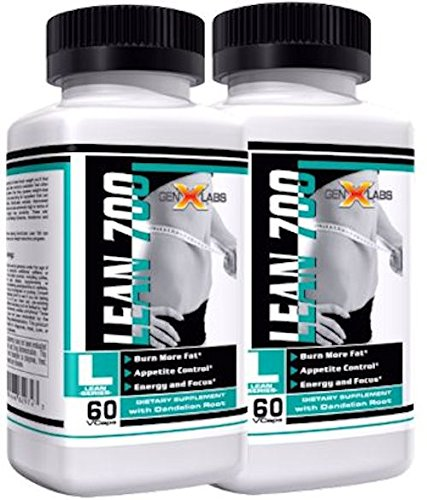 Lean 700 Double Pack- BEST Fat Burner, Metabolism Booster, Appetite Suppressant by Gen X Labs