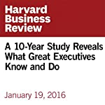 A 10-Year Study Reveals What Great Executives Know and Do | Ron Carucci