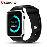 Smartphones Best Deals - LEMFO IW08 Smart Watch Cell Phone Fitness Tracker Bluetooth WristWatch with Camera for Android Smartphones (Silver Black)