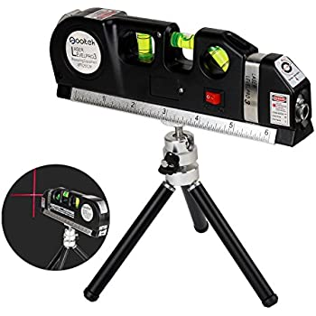 Qooltek Multipurpose Laser Level Laser Measure Line 8ft