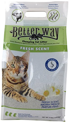 Ultra Pet Better Way Clumping Fresh Scent Cat Litter with Western Bentonite Clay, 14-Pound bag (14 Lb Bag)