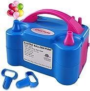 chamvis Electric Balloon Pump 110V~120V Dual Nozzle Balloon Inflator Blower for Balloon Column Stand,Balloon A