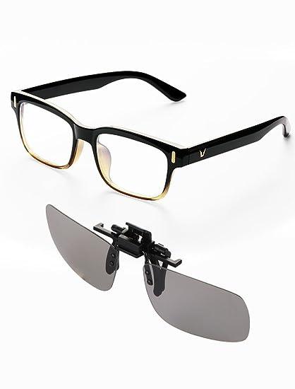 43e344a673 Kits de Gafas de Computadora, Naropox Filtro de Luz Azul y Clip de Lentes  de película ...