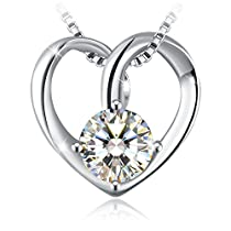 Necklace, Mothers Day Gift with Exquisite Package Sterling Silver 3A Cubic Zircon Necklace J.Rosée Fine Jewelry for Women with You the Best Gift for Mother Wife Girlfriend Daughter, 18+ 2 Extender
