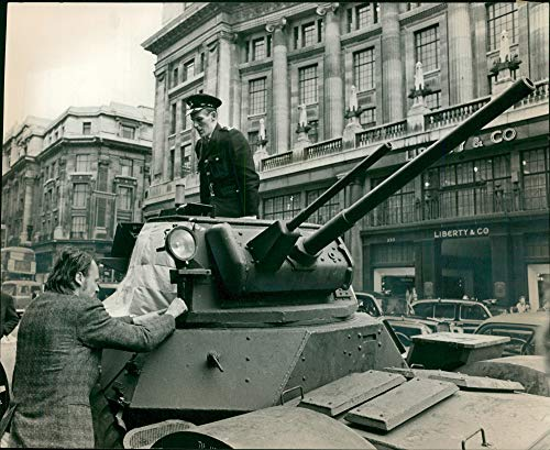 Vintage photo of Armored car Military.